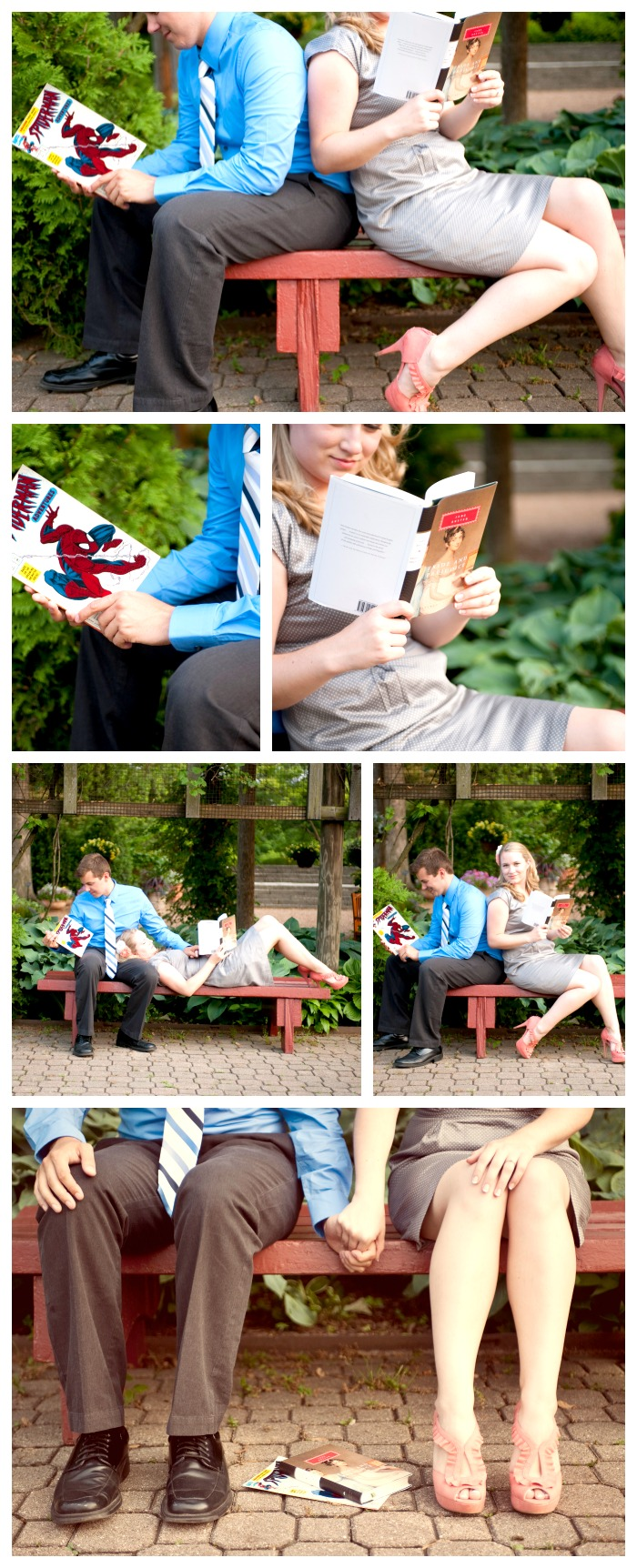 A Book Nerd Engagement Session by The Love Nerds #diywedding #engagementsession #lovenerdevents
