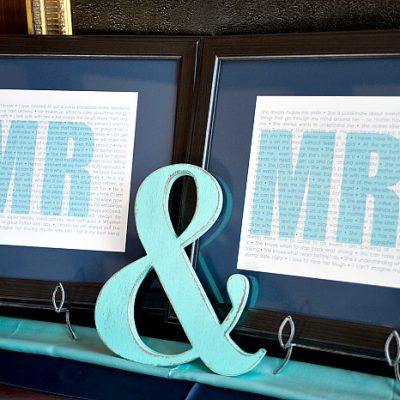 """I love you because…"" – Mr and Mrs Prints"
