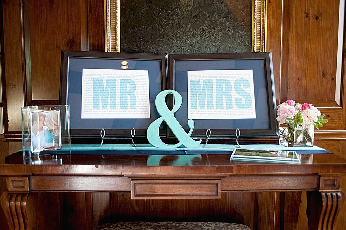 Mr and Mrs Wedding Prints - Personalized wedding decor ideas {The Love Nerds} #weddingdecor #diywedding #lovenerdevents