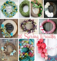 10 Spring Wreaths {Pinspiration}
