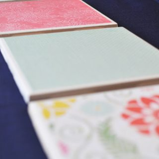 Scrapbook Paper Personalized Coasters