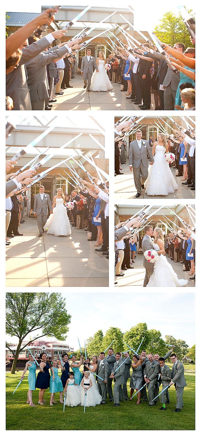 Star Wars Wedding - Unique details incorporates nerdy personality while still being stylish! {The Love Nerds} #lovenerdevents #weddingdecor #nerdywedding #starwarswedding
