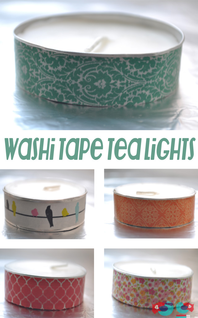 Washi Tape Tea Lights Collection
