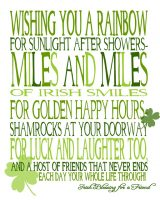 Wishing You Miles and Miles of Irish Smiles - St. Patty's Day