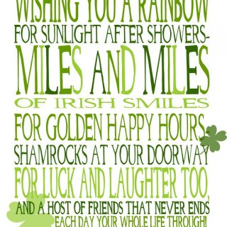 Wishing You Miles and Miles of Irish Smiles! {free printable}
