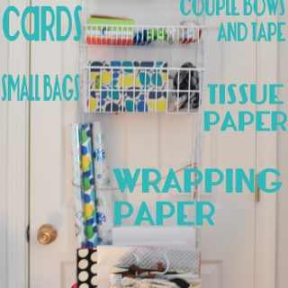 DIY Gift Wrapping Station – Apartment Style