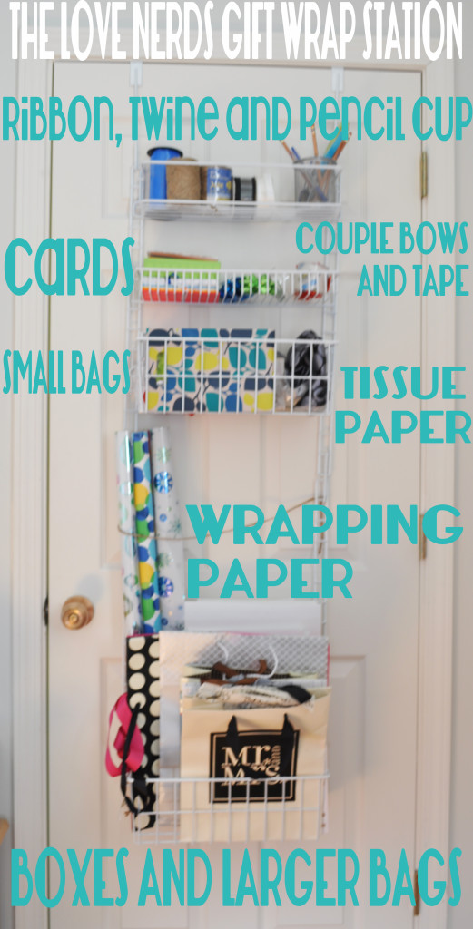 the love nerds gift wrap station