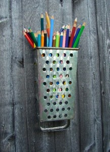 Grater turned into craft organizer