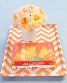 Upcycle a cookie sheet into a decorative tray