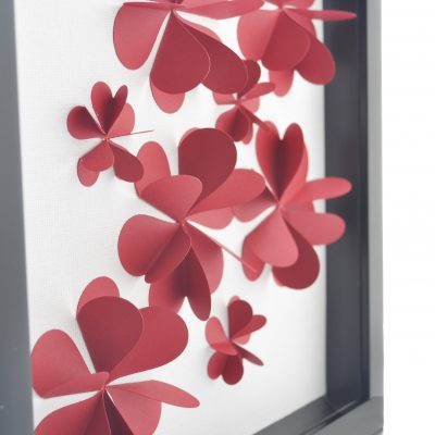 3D Flower Art Using Paper Hearts