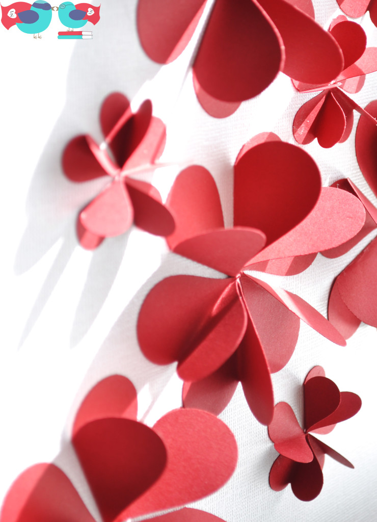 heart petals art work