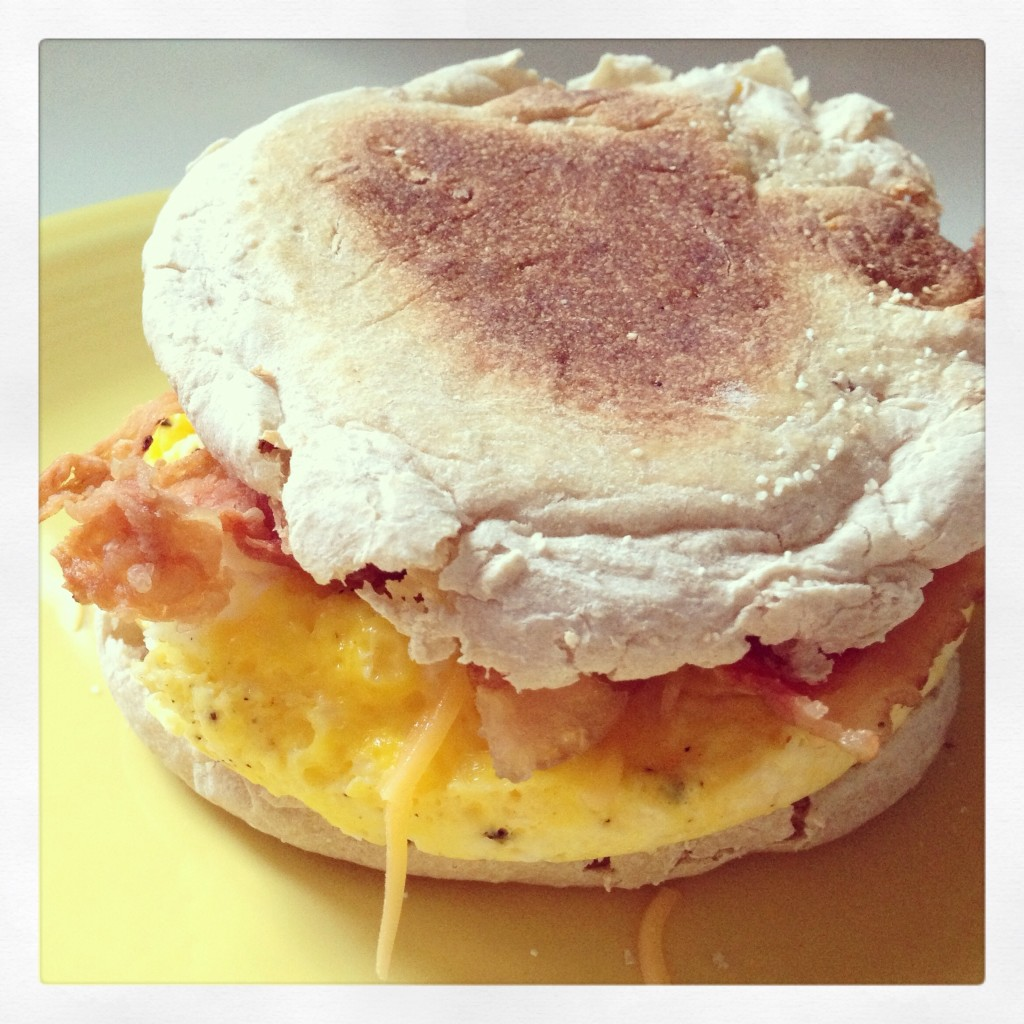 A Homemade Egg McMuffin is an easy on-the-go breakfast idea, even on a week day!  {The Love Nerds}