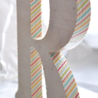 How to decorate a Wooden Letter with Washi Tape