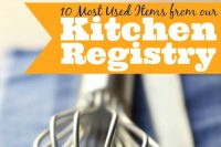 Creating a registry is not easy, so I'm sharing the 10 Most used Items from our Wedding Registry! {The Love Nerds}