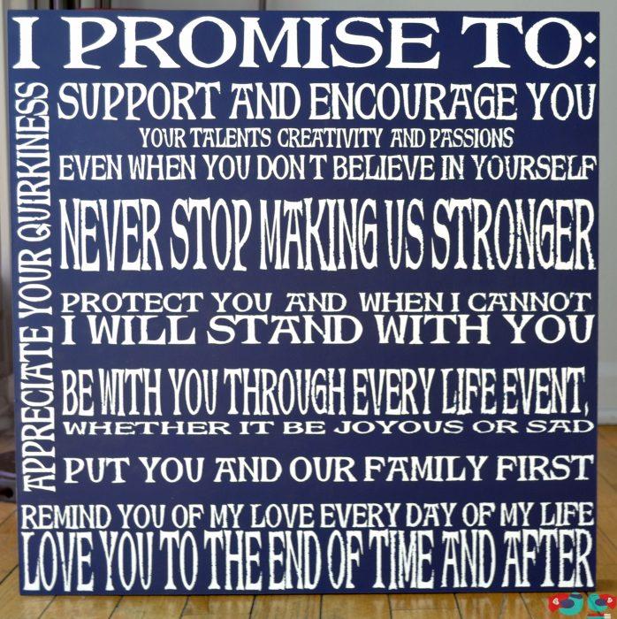Wedding Vow Promises: DIY Wedding Vow Art