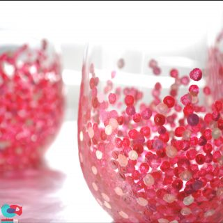 How to Decorate Wine Glasses with Hand Painted Confetti Dots