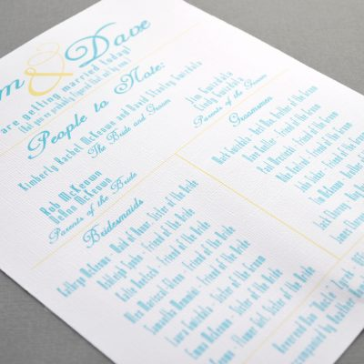"A Fun and ""Cool"" Summer Wedding Program Tutorial"