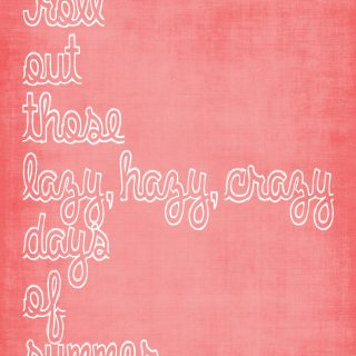 "Free summer print for download - ""Lazy, Hazy, Crazy Days of Summer"" @ thelovenerds"