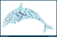 Subway Word Art with all the wonderful things about summer on a beach in the shape of a dolphin @ thelovenerds