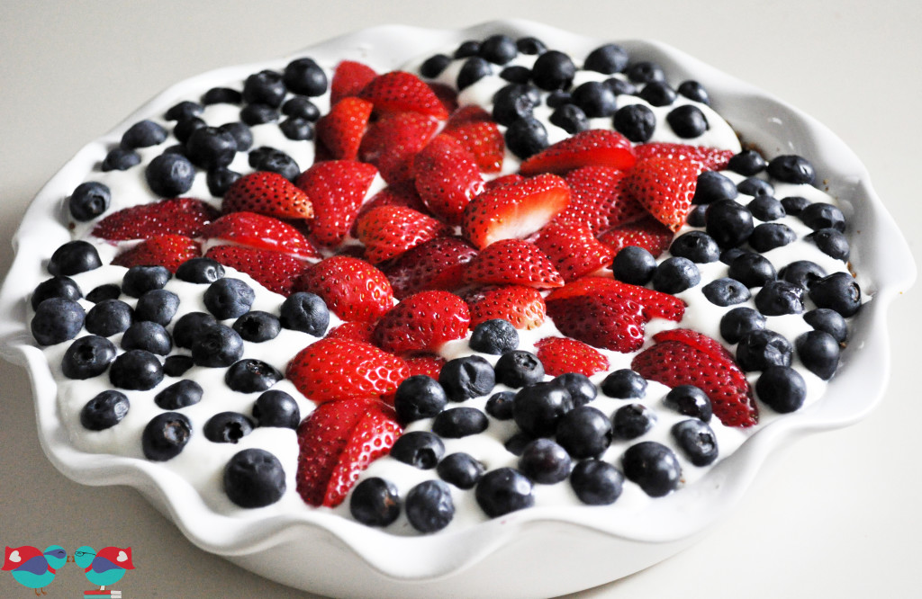 Sweet & Salty Summer Pie with a Pretzel Crust - refrigerated @ thelovenerds
