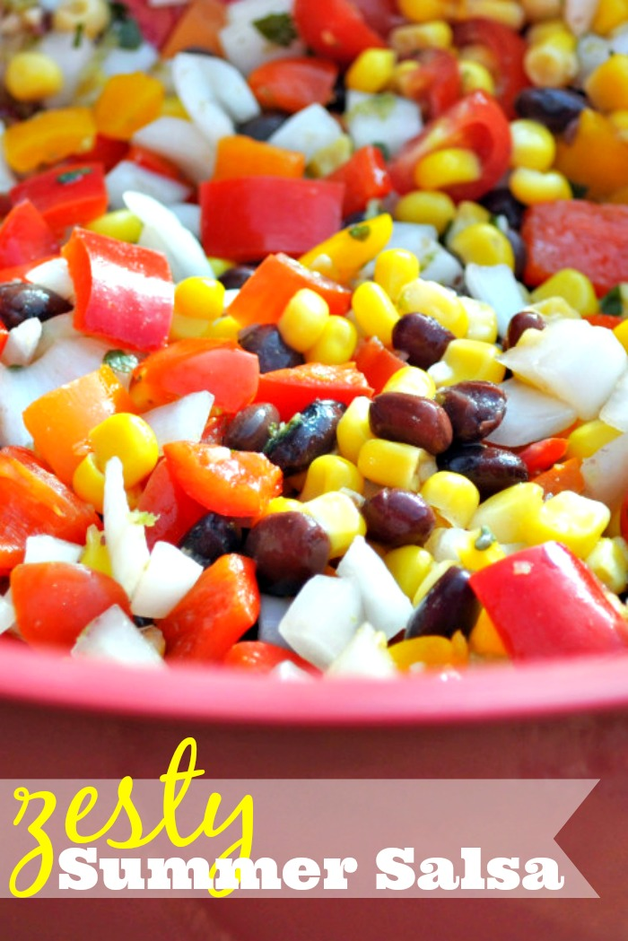 Zesty Summer Salsa - A fresh salsa recipe that is perfect for a hot day! {The Love Nerds}
