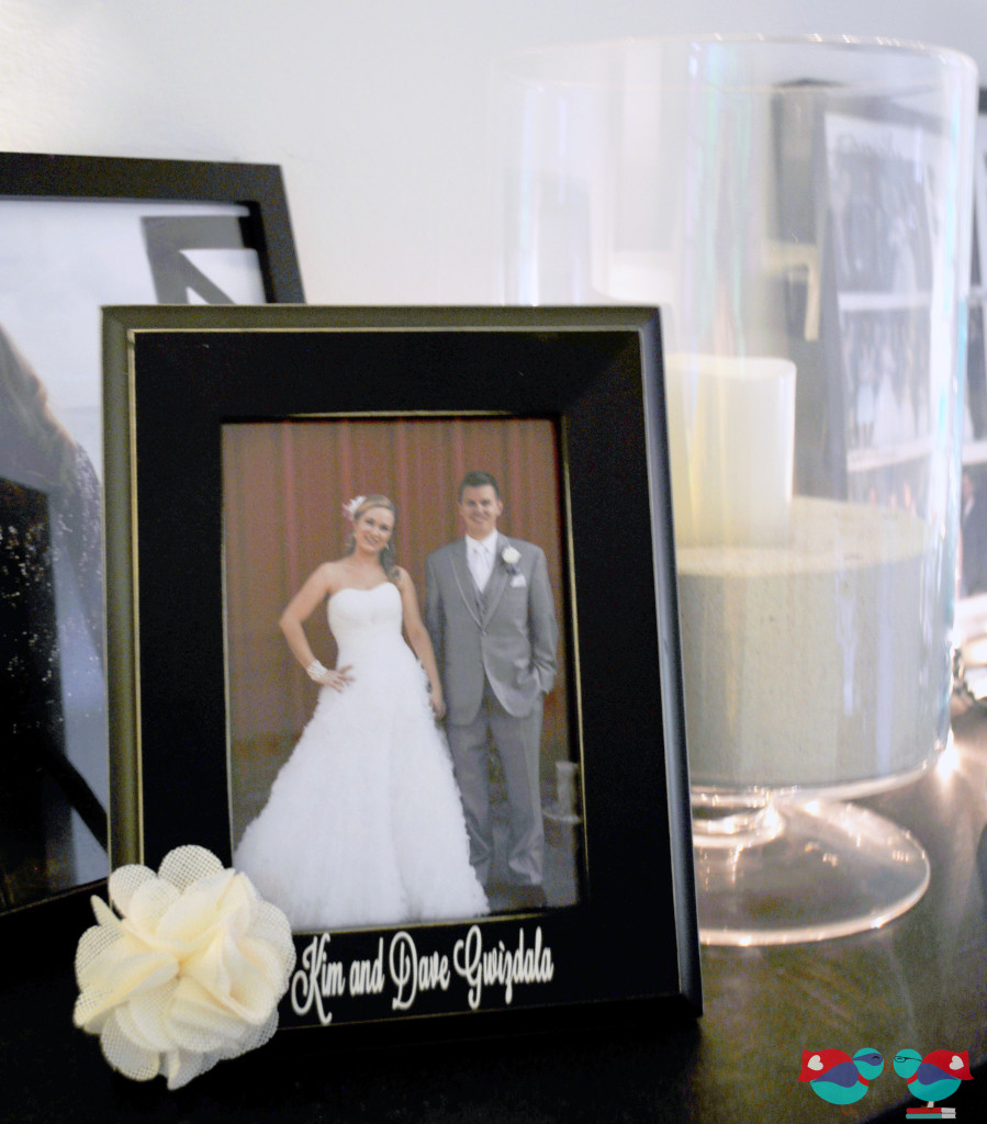 Personalized Couple Frame for a Wedding Gift @ The Love Nerds