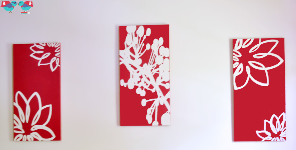Hand Painted Canvases for the Guest Bedroom @ The Love Nerds