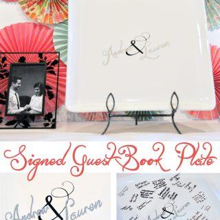 DIY Wedding Guest Book Plate