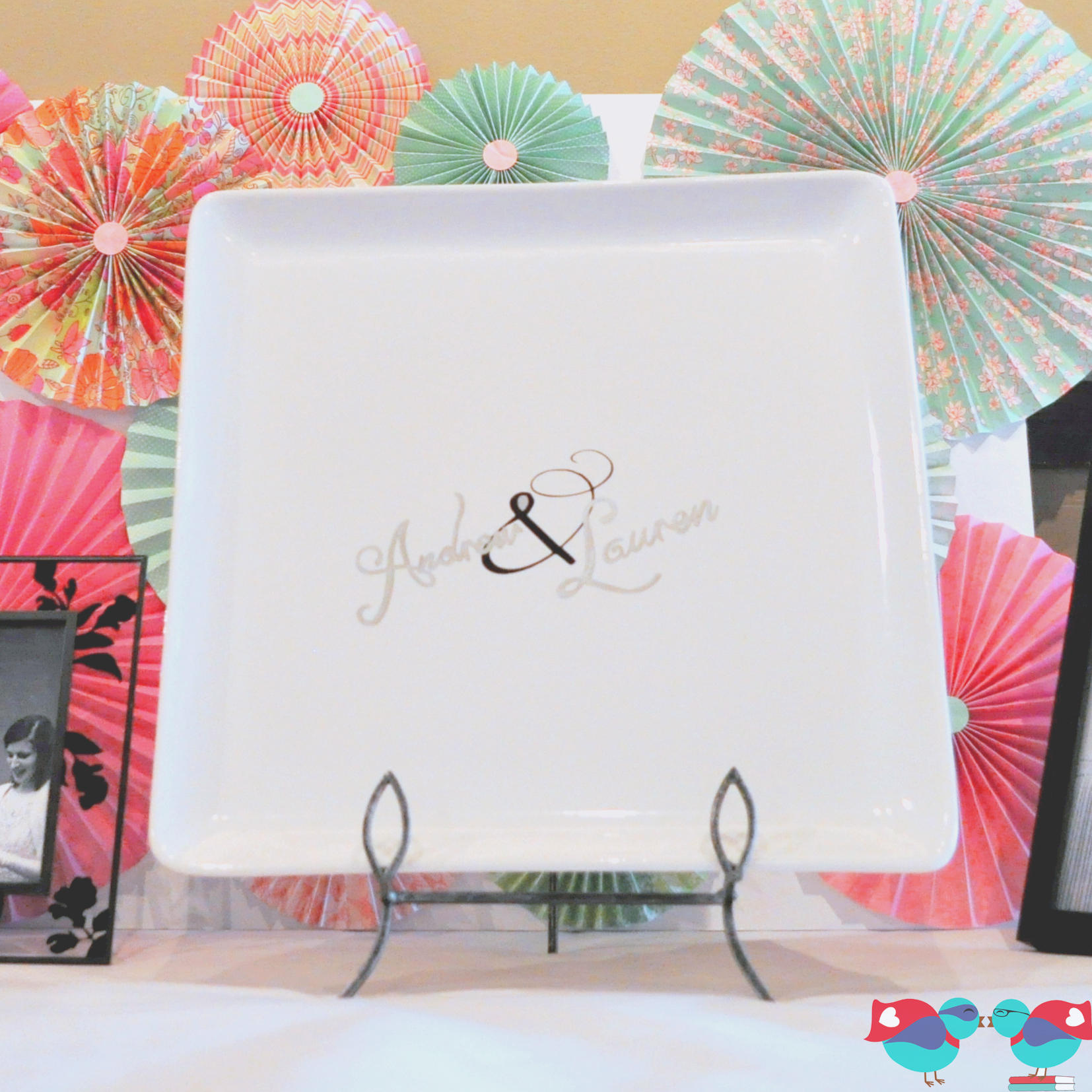 DIY Wedding Guest Book Plate - The Love Nerds