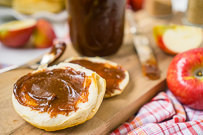 crock pot apple butter recipe - easy family recipe in a slow cooker