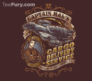 Captain Mal firefly tshirt from TeeFury