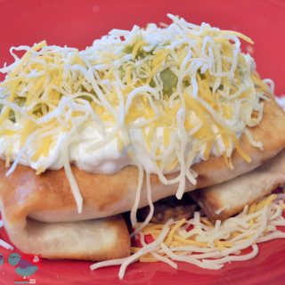 Amazing Chicken Chimichanga recipe - Delicious filling with a crispy outside! {The Love Nerds} #recipe #mexicaninspiredrecipe