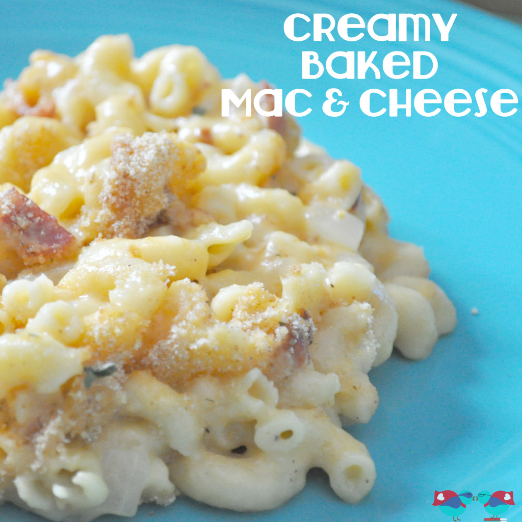 Creamy Baked Mac and Cheese from The Love Nerds {https://blog.thelovenerds.com}