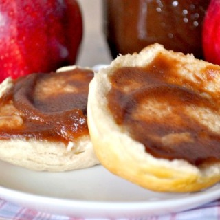 Learn how to make Homemade Apple Butter in your Slow Cooker! My sister says it takes like Cracker Barrel's and loves it on biscuits! Plus, it got the seal of approval from my grandma! {The Love Nerds}