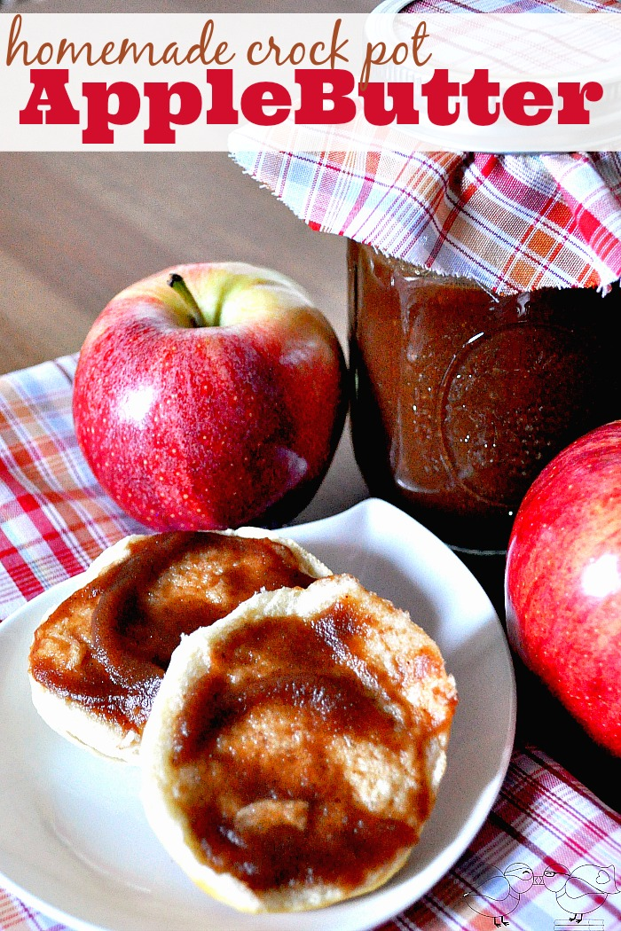 Learn how to make Homemade Apple Butter in your Slow Cooker! My sister says it takes like Cracker Barrel's and loves it on biscuits! It even got my grandma's seal of approval! Plus, crock pot apple butter makes very little mess! {The Love Nerds}