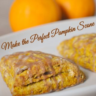 The Perfect Pumpkin Scones {Contributing at Domestic Bliss Squared}