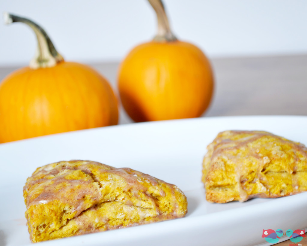 How to Make Homemade Pumpkin Scones with a Pumpkin Spice Glaze - This is the perfect fall recipe. They are moist with the perfect combination of fall spices. A must try! Created by The Love Nerds {http://blog.thelovenerds.com}