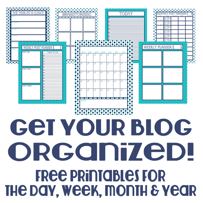 Free Blog Organizer Materials - Materials will help you get organized daily, weekly, monthly, and yearly! @ The Love Nerds {http://blog.thelovenerds.com}
