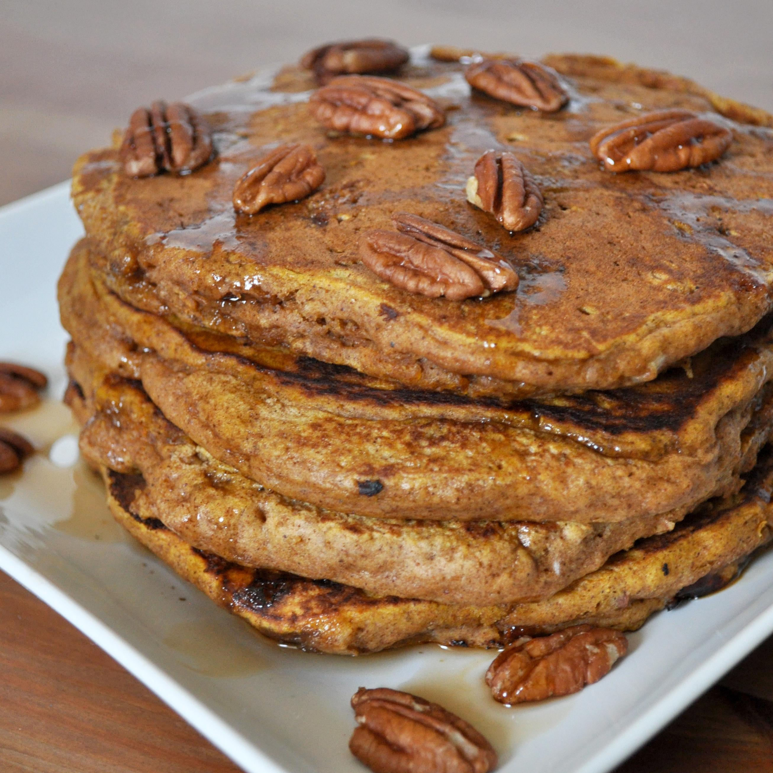 The Perfect Pumpkin Pecan Pancakes - The Love Nerds