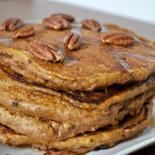 The Perfect Pumpkin Pecan Pancakes