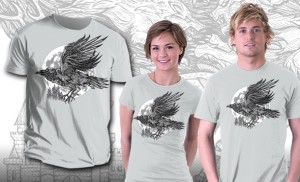 Game of Thrones Raven t-shirt - gorgeous design that is not obviously nerdy. Perfect for anyone who loves the Game of Thrones series. #teefury