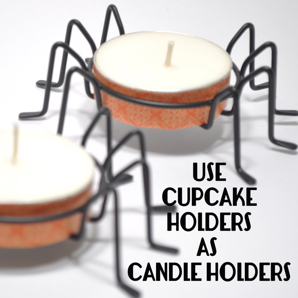 RePurposing Cupcake Holders as Candle Holders for Holiday Decor @ The Love Nerds (https://thelovenerds.com)