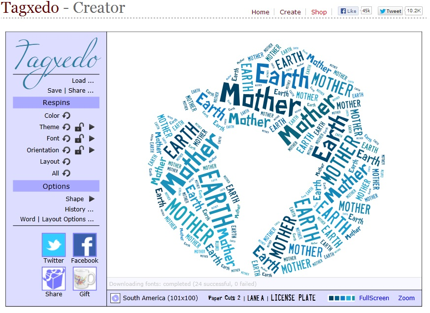 How to Make your Own Shaped Word Art for Free