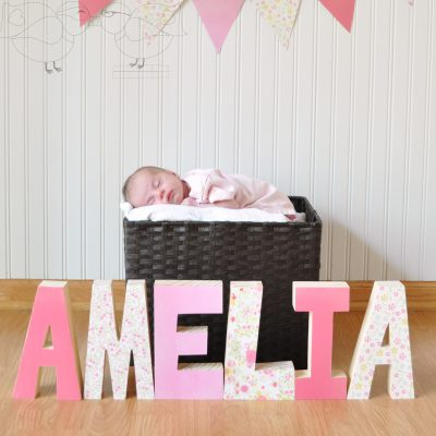 Decorative Wooden Letters- Perfect Gift for New Baby