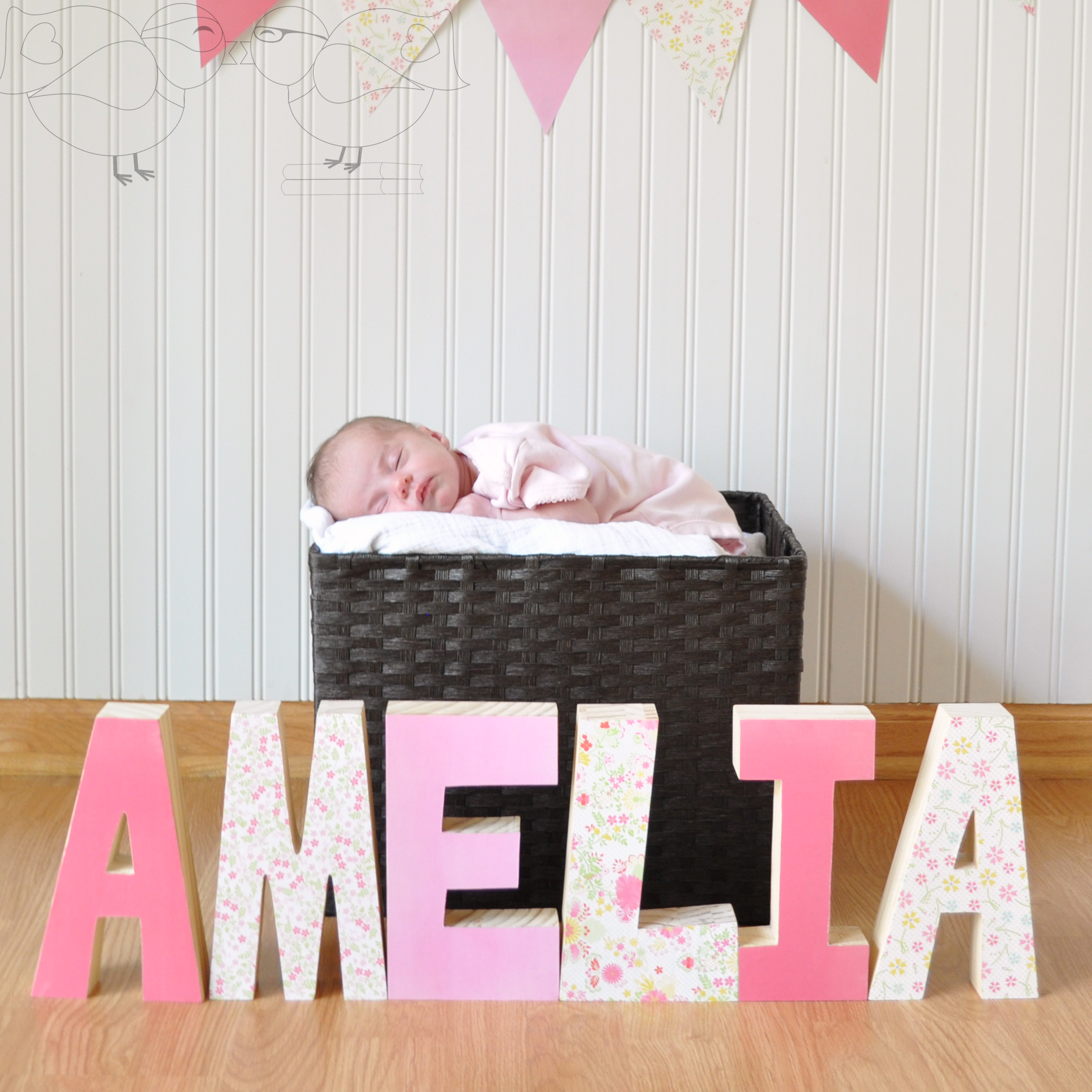 decorative wooden letters perfect gift for new baby the