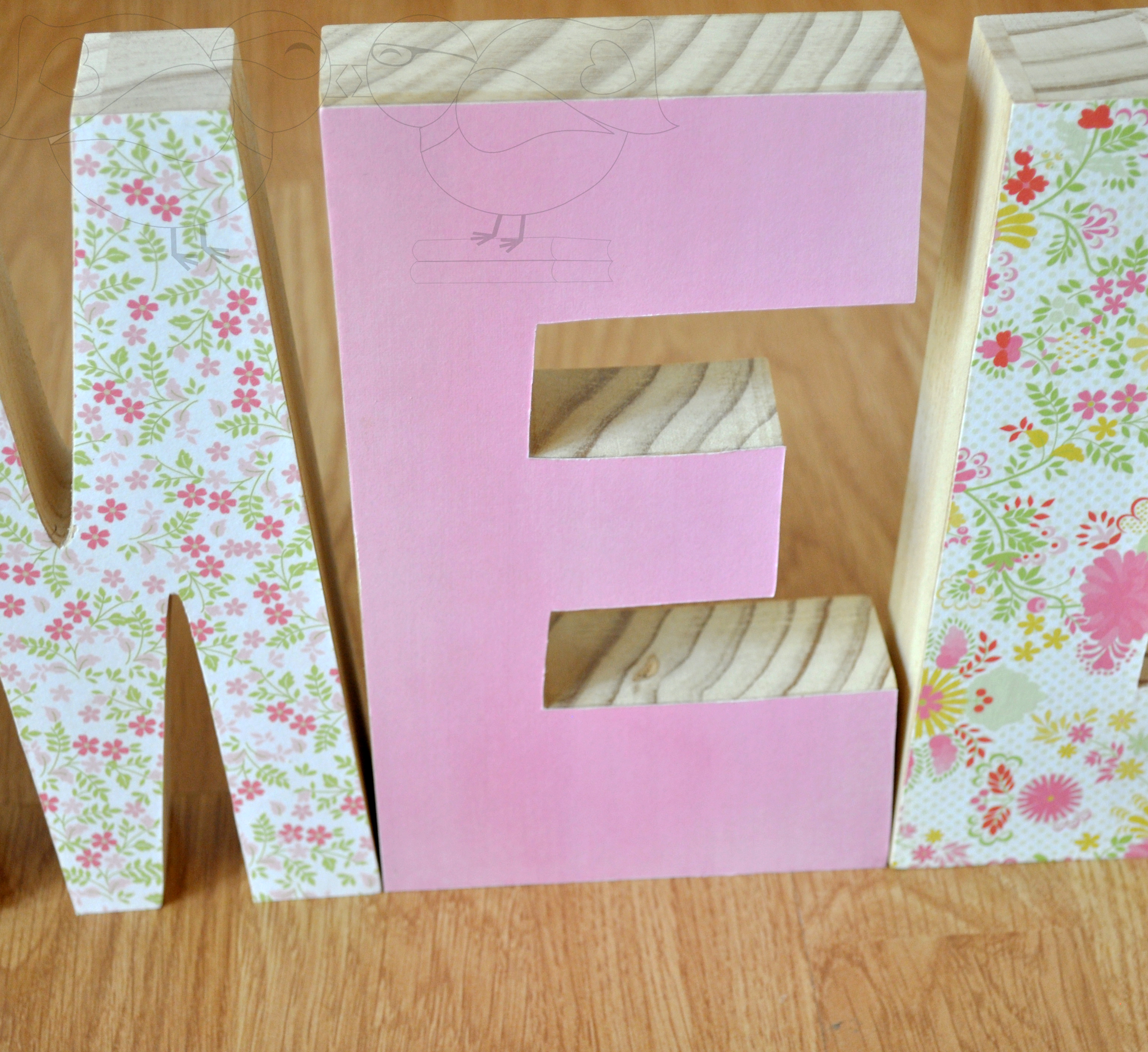 Decorative Wooden Letters- Perfect Gift for New Baby - The Love Nerds