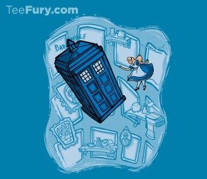 Dr Who meets Alice and Wonderland, perfect combo shirt for nerds