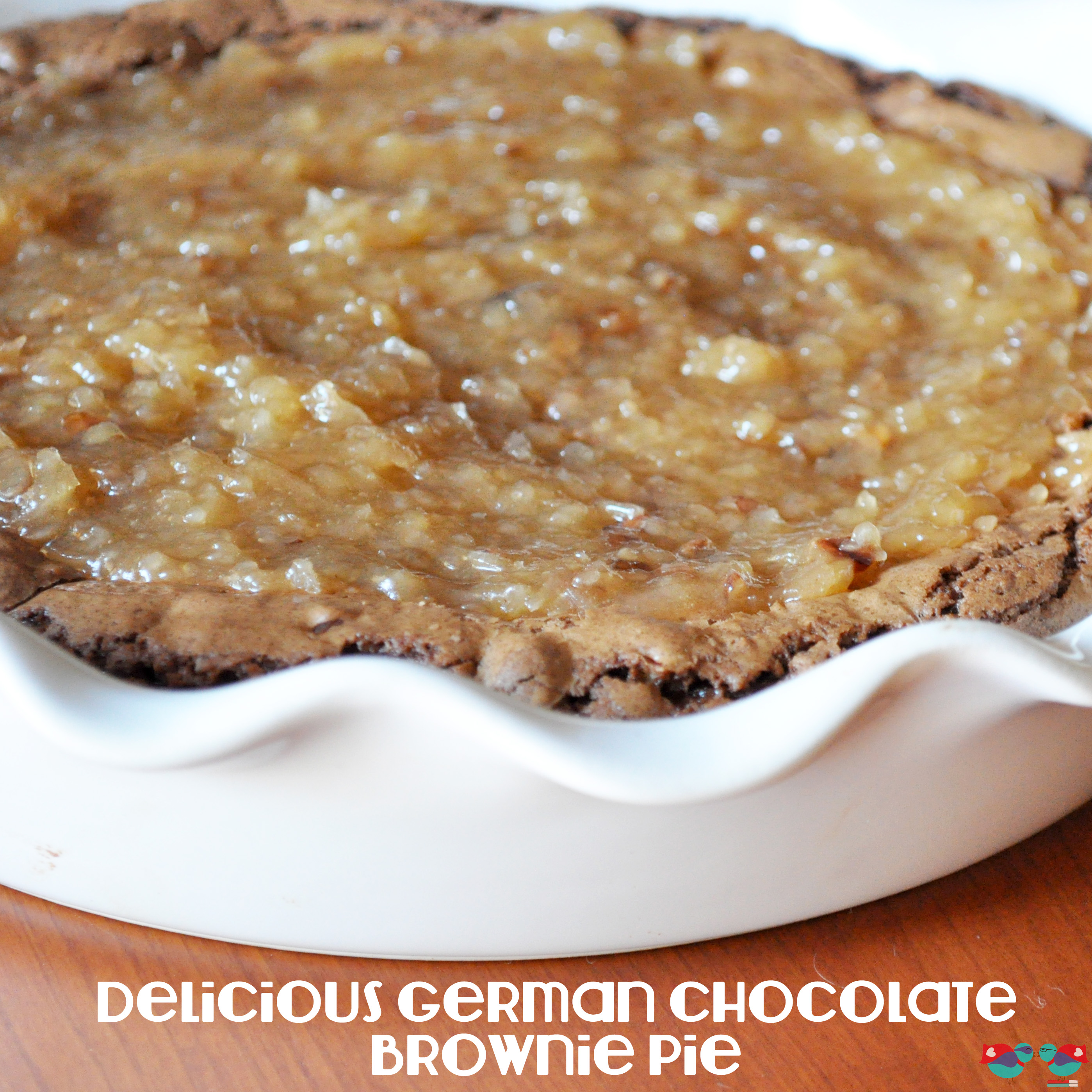 German Chocolate Brownie Pie - The Love Nerds