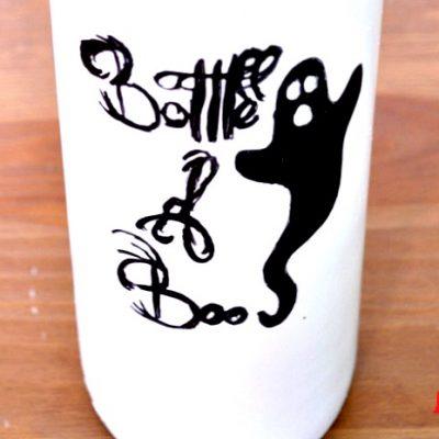 Bottle of Boos {Halloween Decor}