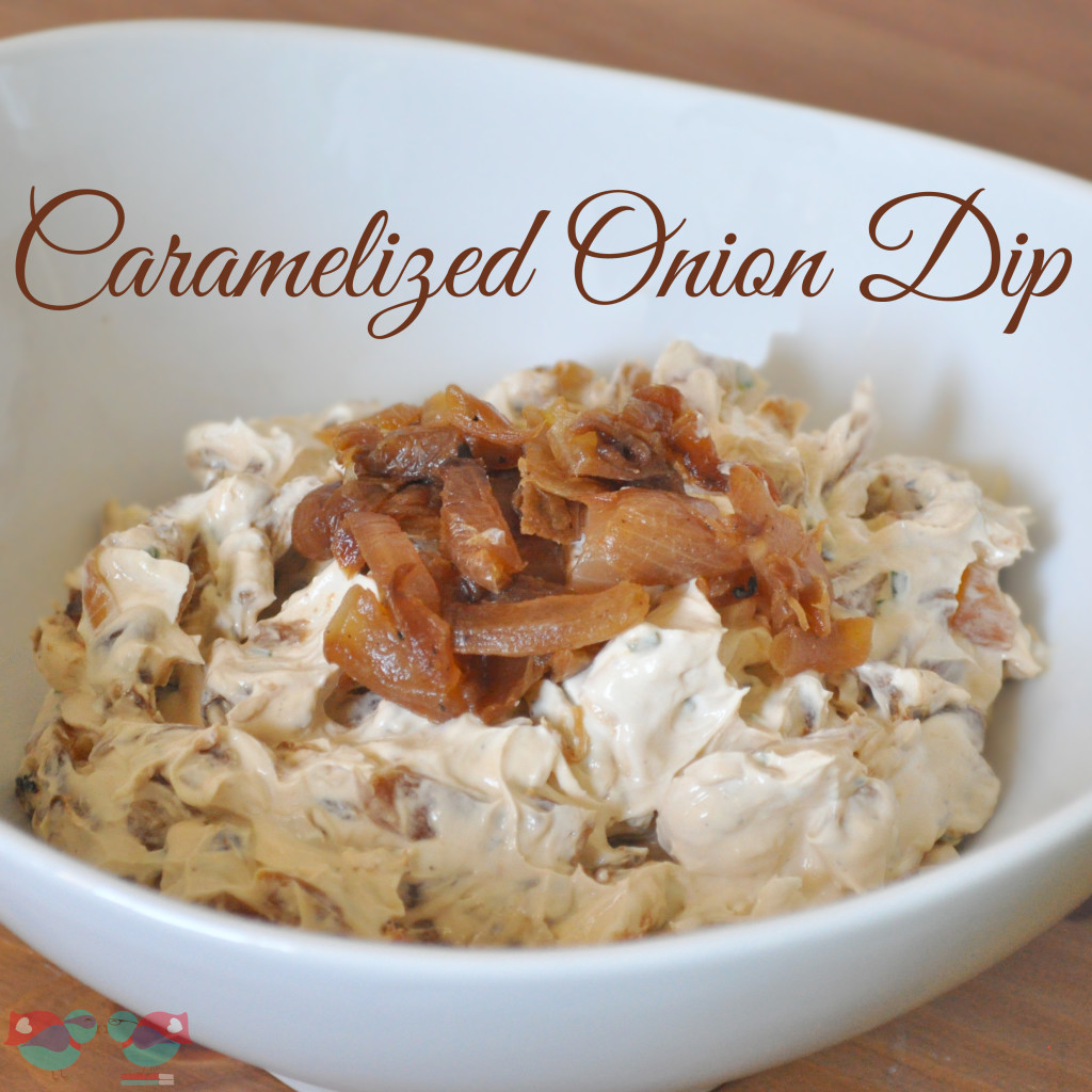 Caramelized Onion Dip - Nothing beats the fresh taste of this dip with deeply brown and sweetened onions!  from The Love Nerds {https://blog.thelovenerds.com}